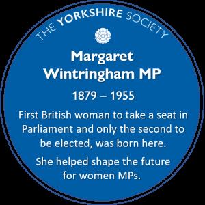 margaret wintringham MP plaque
