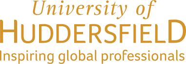 uni of hudds logo - gold