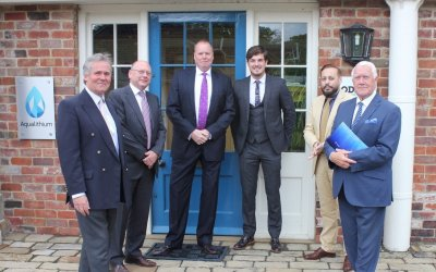 Corporate members, Aqualithium, welcome Wakefield MP Imran Ahmad Khan to their offices
