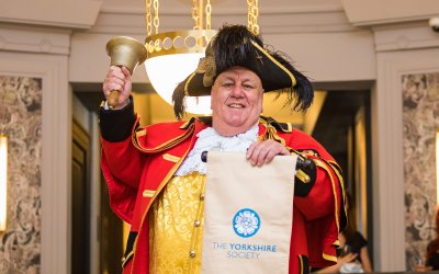 The Yorkshire Society's official Town Crier stars at re-opening of Queens Hotel in Leeds